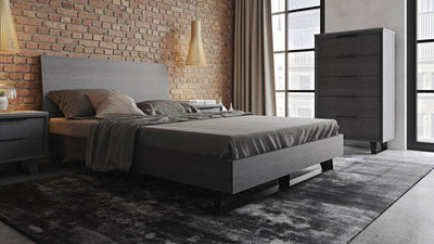 Amsterdam Bed Gray Oak