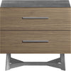 Broome Nightstand Concrete/Latte Walnut