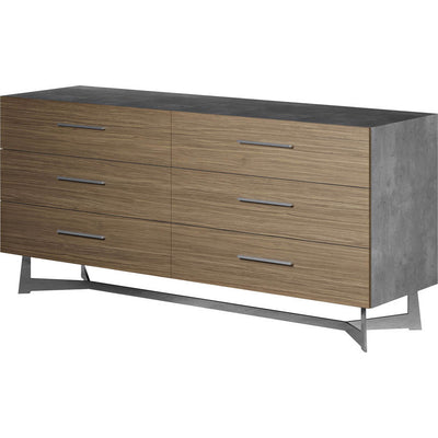 Broome Dresser Concrete/Latte Walnut