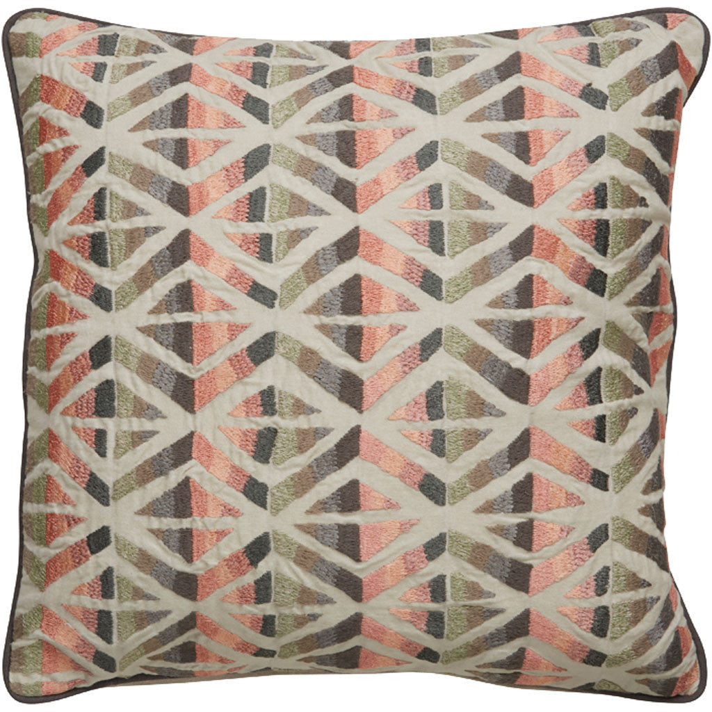 Dekota Dek-01 Ivory/Pink Pillow