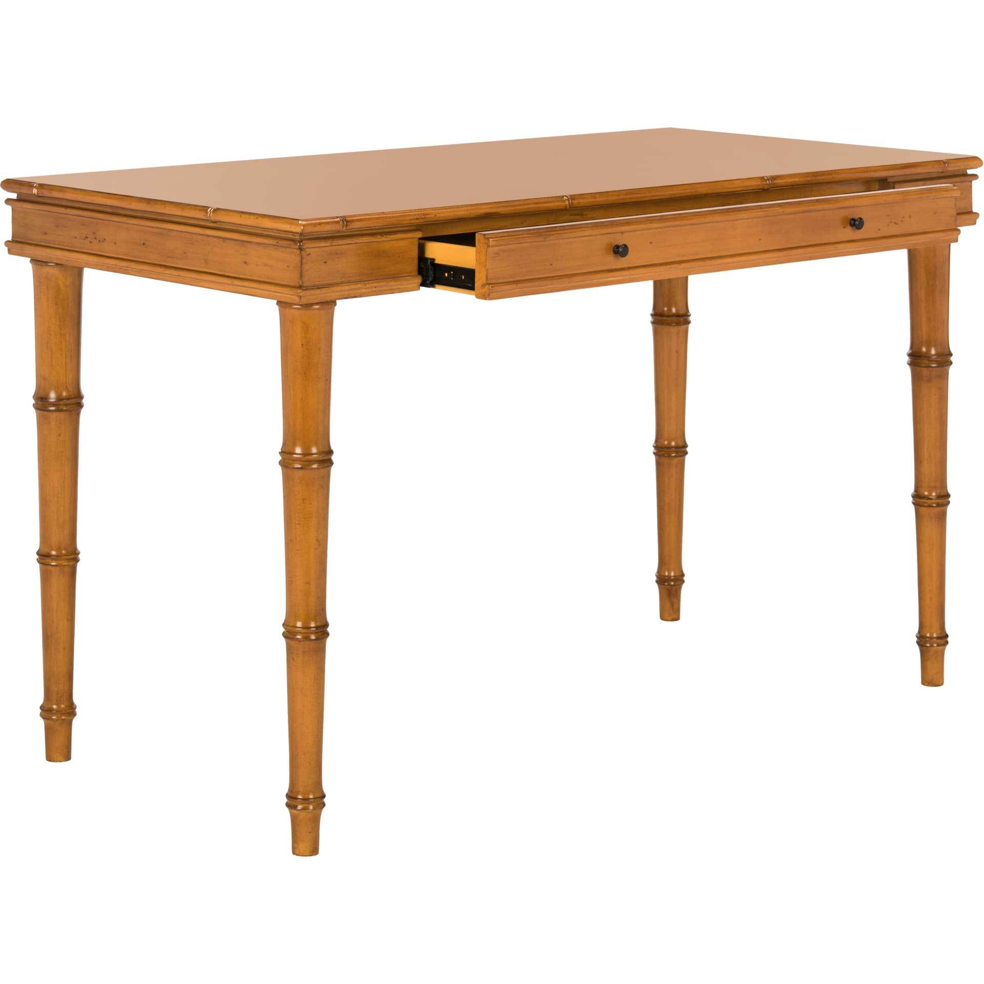 Noemi Coastal Writing Desk Brown