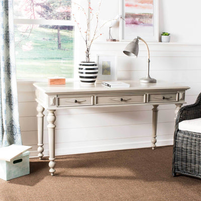Robert 3 Drawer Desk Light Beige