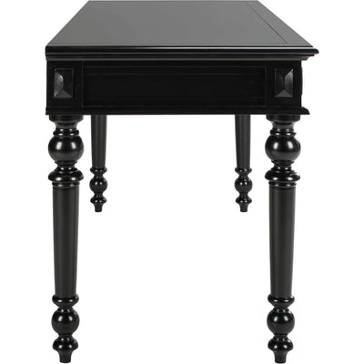 Robert 3 Drawer Desk Black