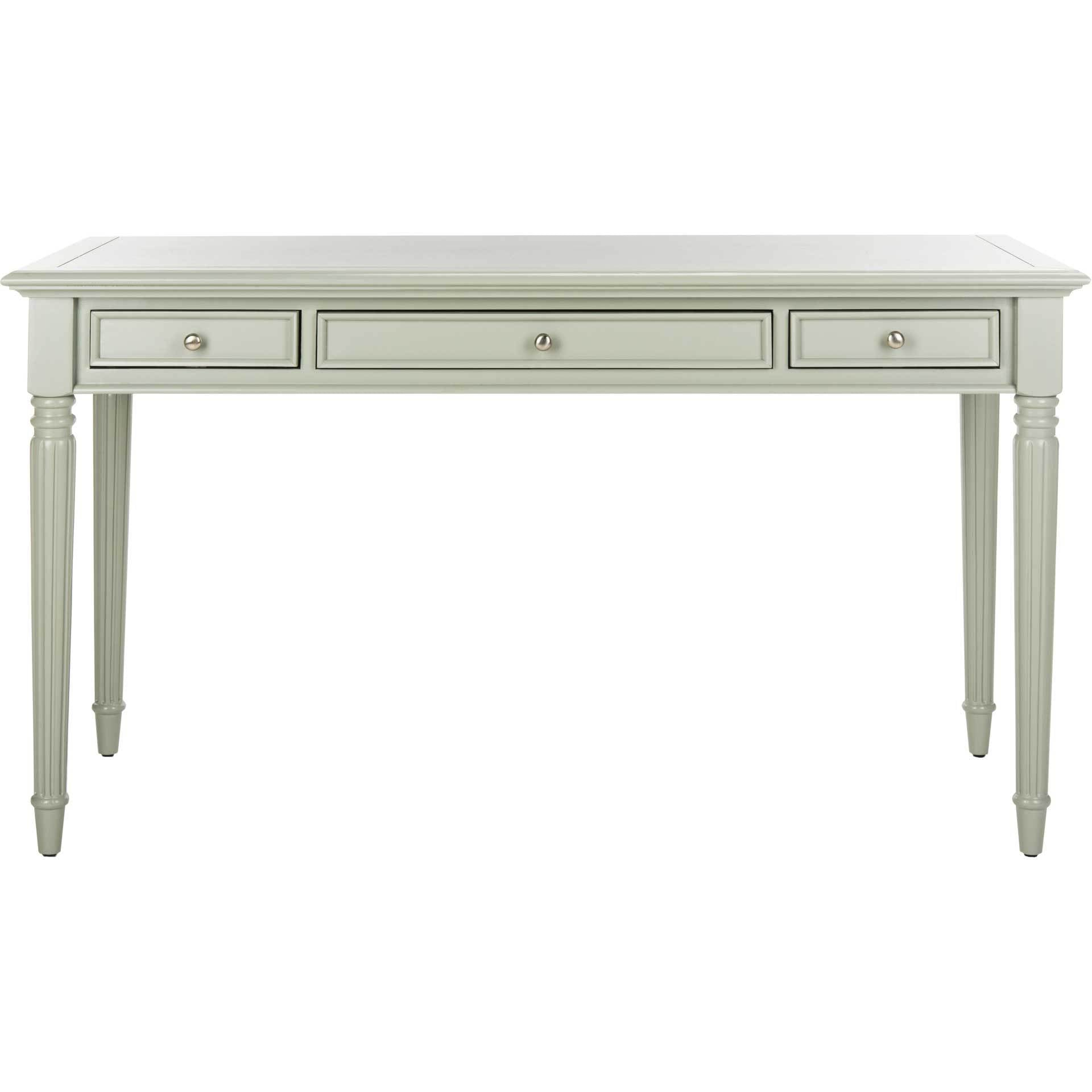 Cohen 3 Drawer Desk Gray
