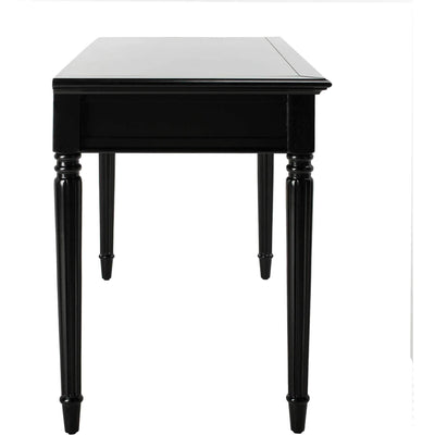 Cohen 3 Drawer Desk Black