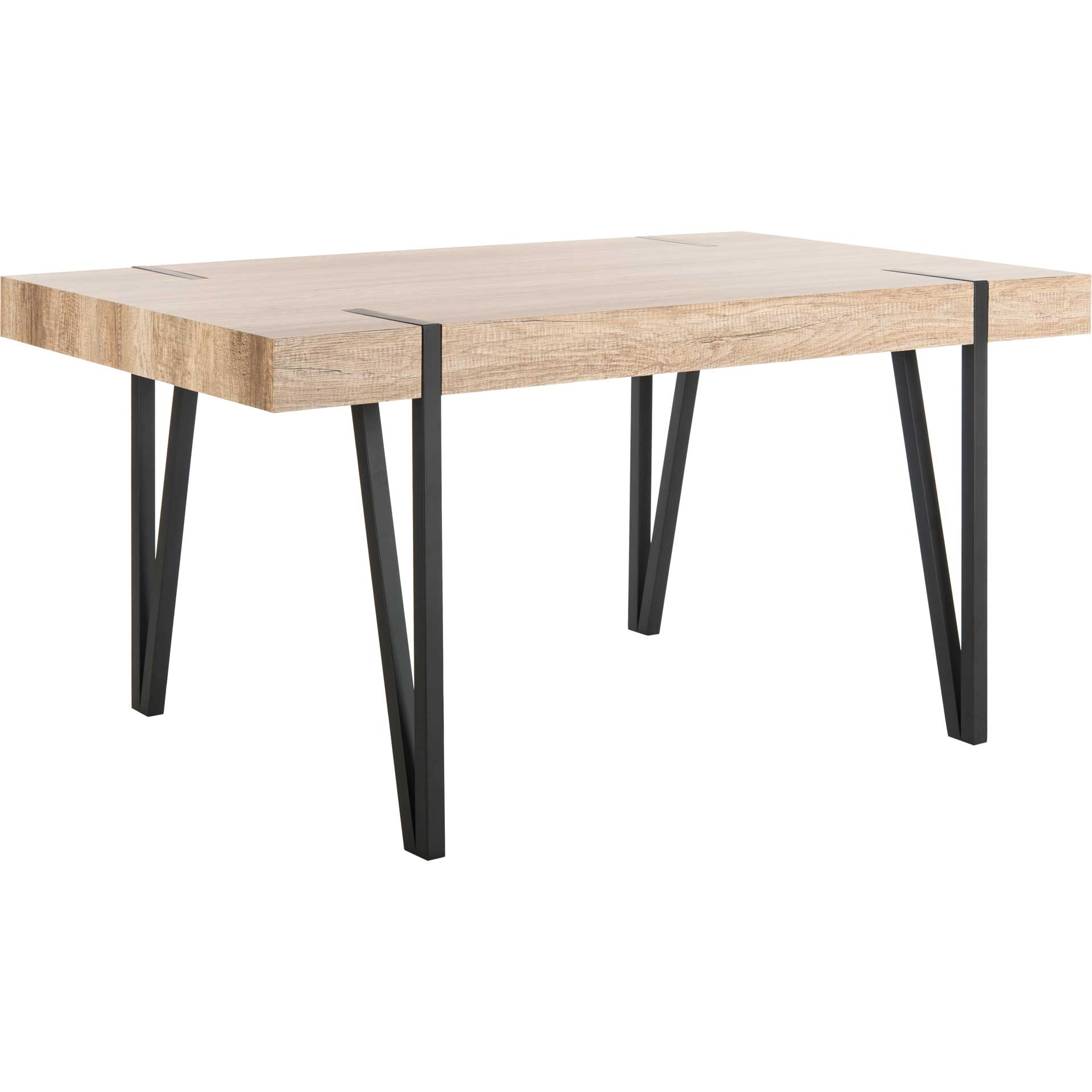 Alan Wood Top Dining Table Canyon Gray
