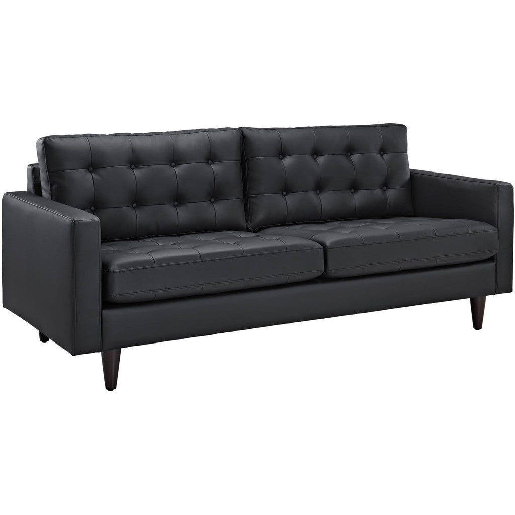 Era Leather Sofa Black
