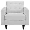 Era Leather Armchair White