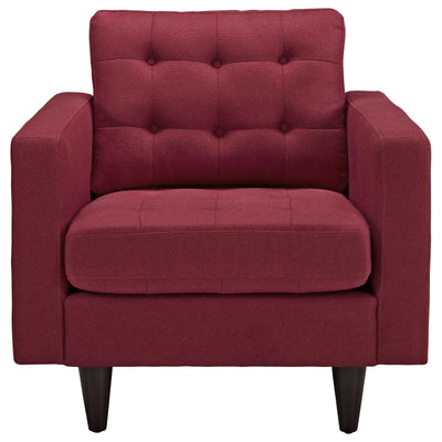 Era Upholstered Armchair Red