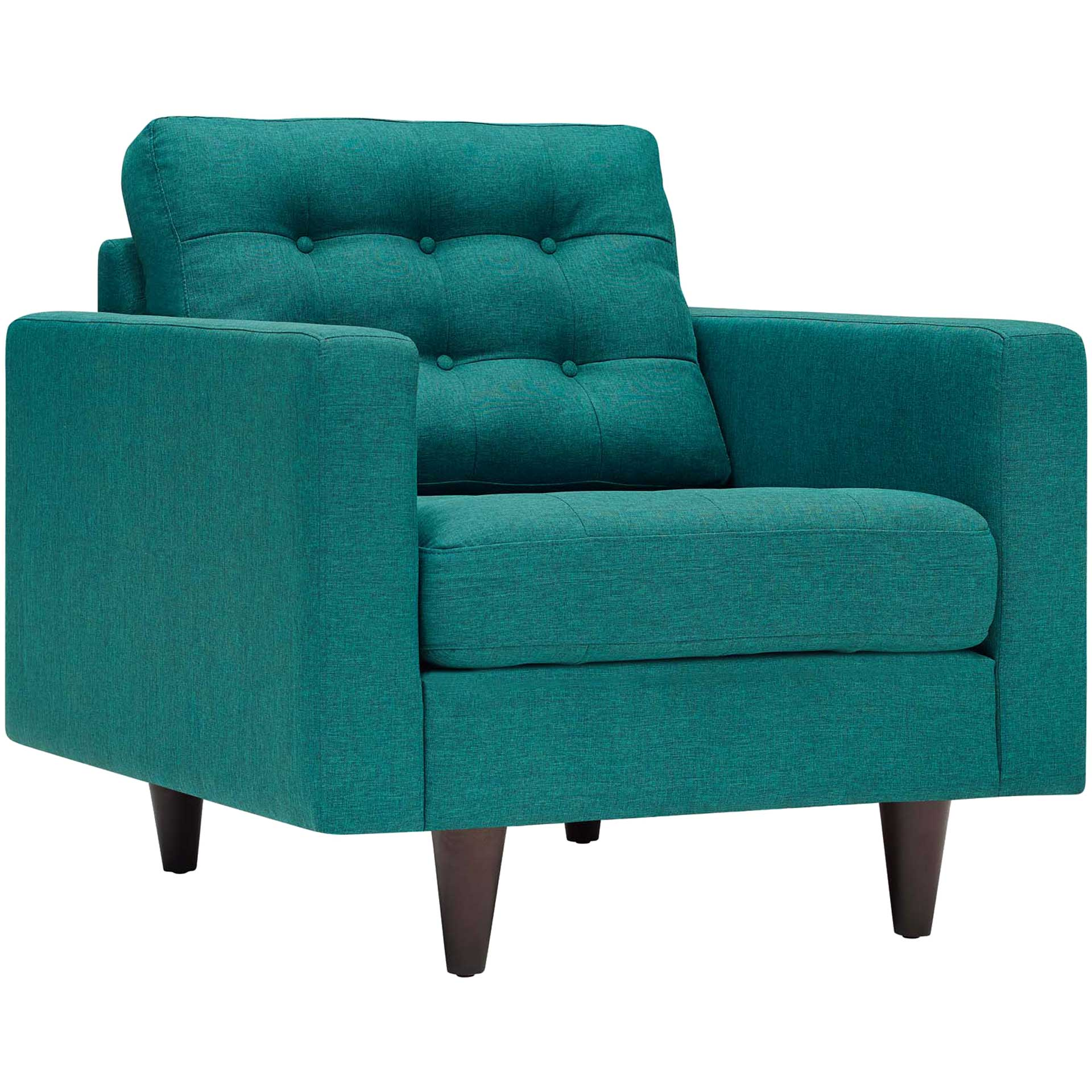 Era Upholstered Armchair Teal