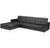 Lyte Leather Sectional Sofa Black