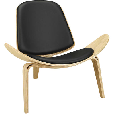 Ark Lounge Chair Oak Black