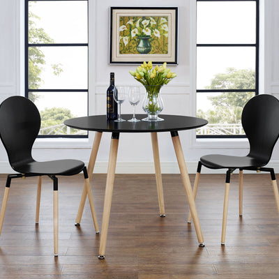 Tacey Circular Dining Table Black