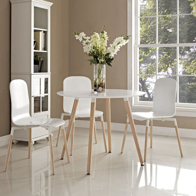 Tacey Circular Dining Table White