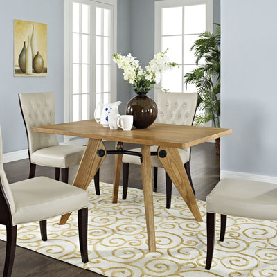 Landa Wood Dining Table Walnut