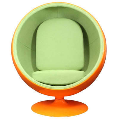 Keane Lounge Chair Orange Green
