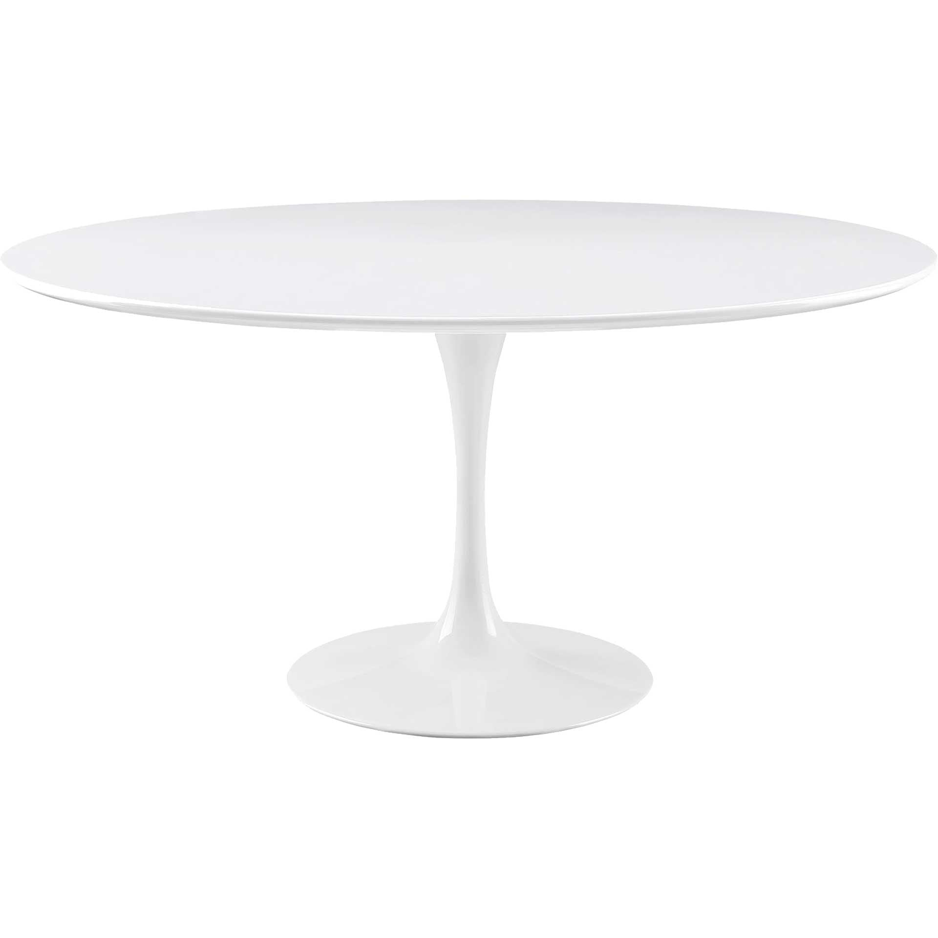 Lore Round Dining Table White