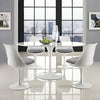 Lore Oval Dining Table White