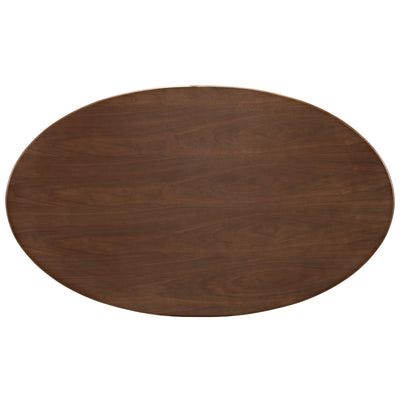 Lore Oval Dining Table Walnut