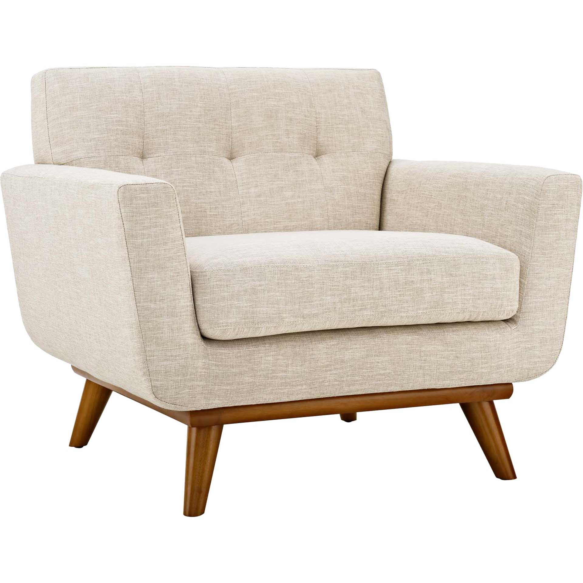 Emory Upholstered Armchair Beige