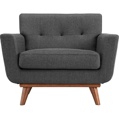 Emory Upholstered Armchair Gray