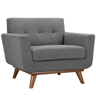 Emory Upholstered Armchair Expectation Gray