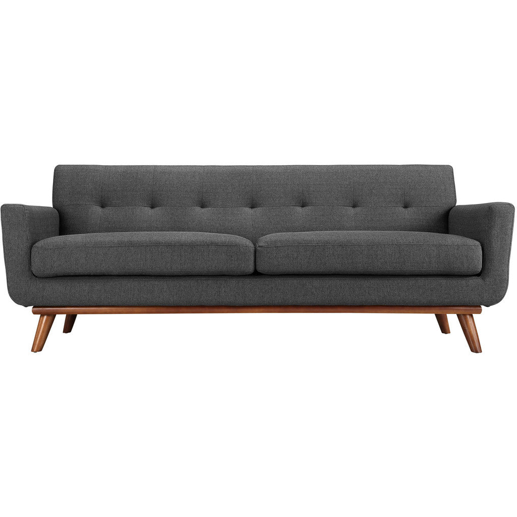 Emory Upholstered Sofa Gray