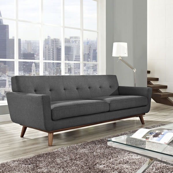 Emory Upholstered Sofa Gray Froy