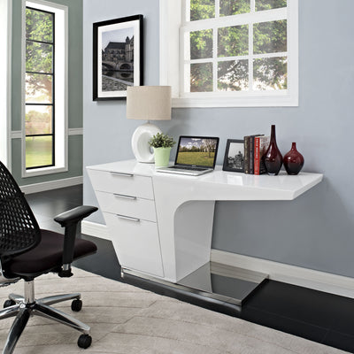Ward Office Desk White