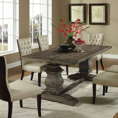 Clement Wood Dining Table Brown