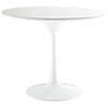 Lore Fiberglass Side Table White