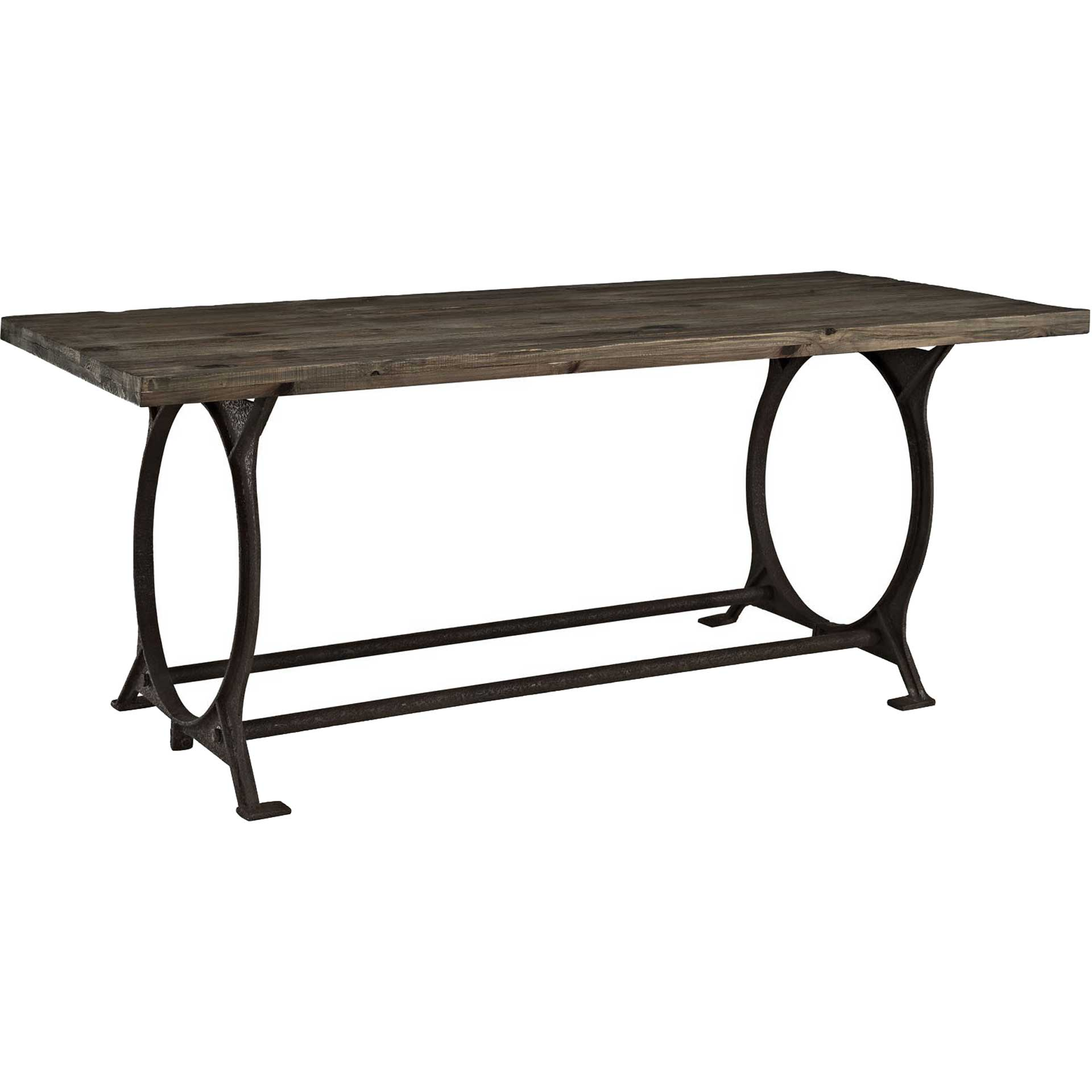 Entei Wood Top Dining Table Brown