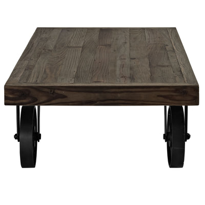 Gareth Wood Top Coffee Table Brown