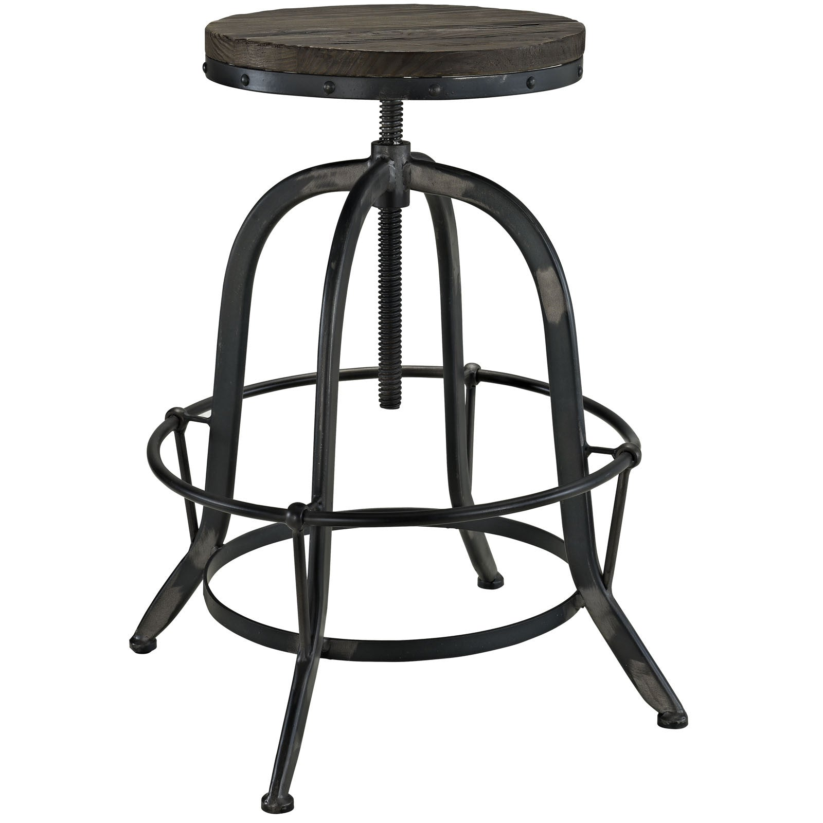Cosma Wood Top Bar Stool Black