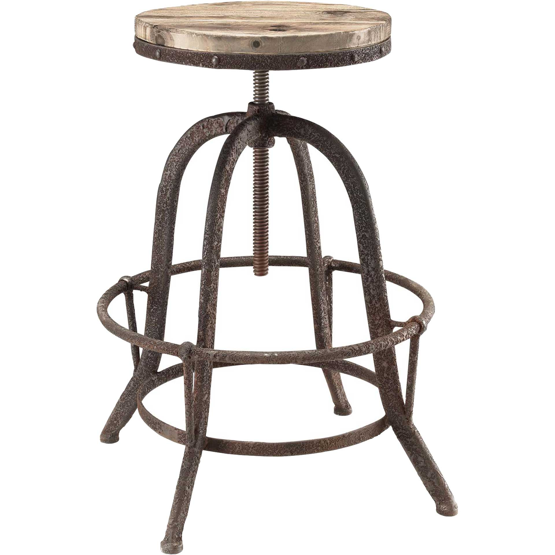 Cosma Wood Top Bar Stool Brown