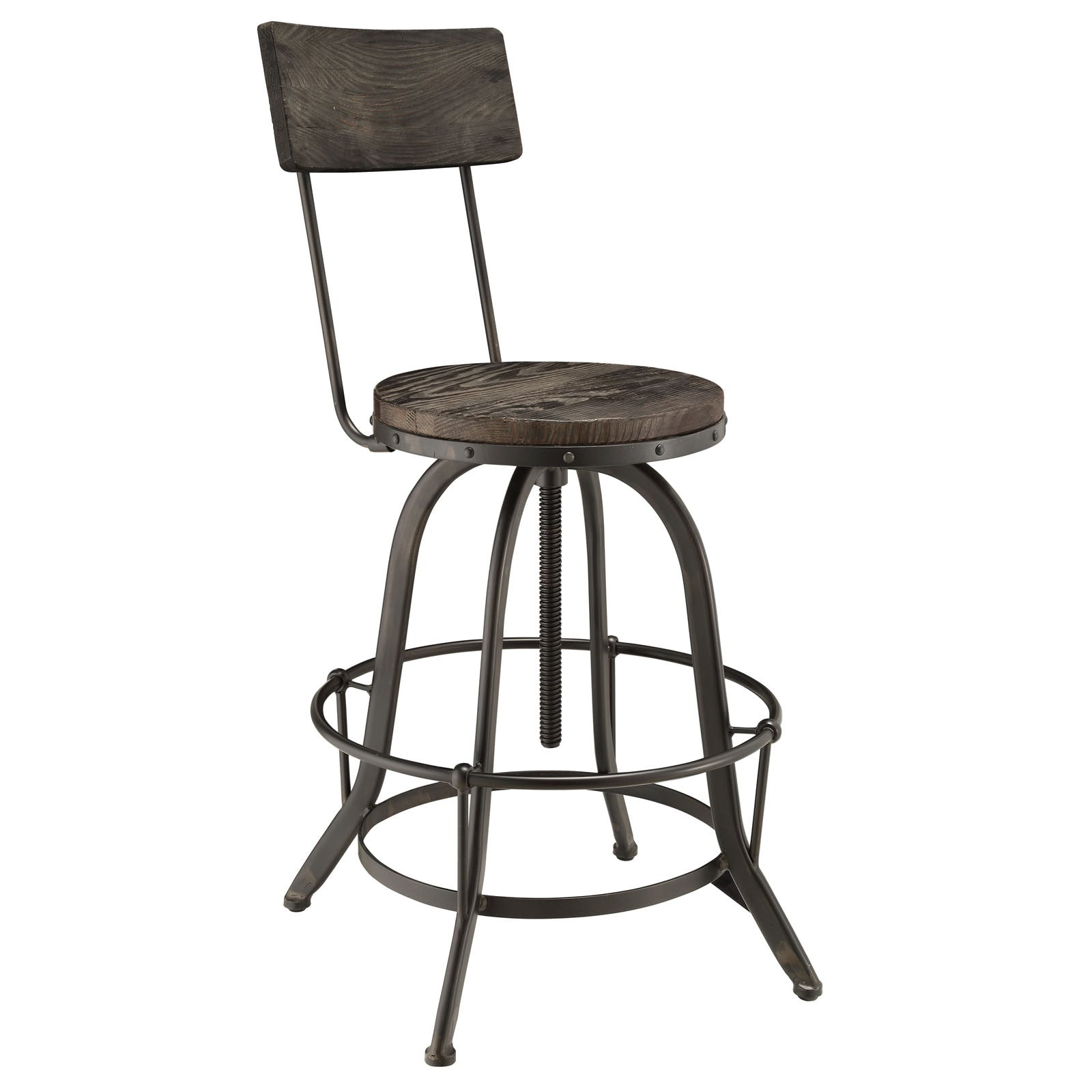 Palamas Wood Bar Stool Black