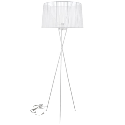 Twin Floor Lamp White