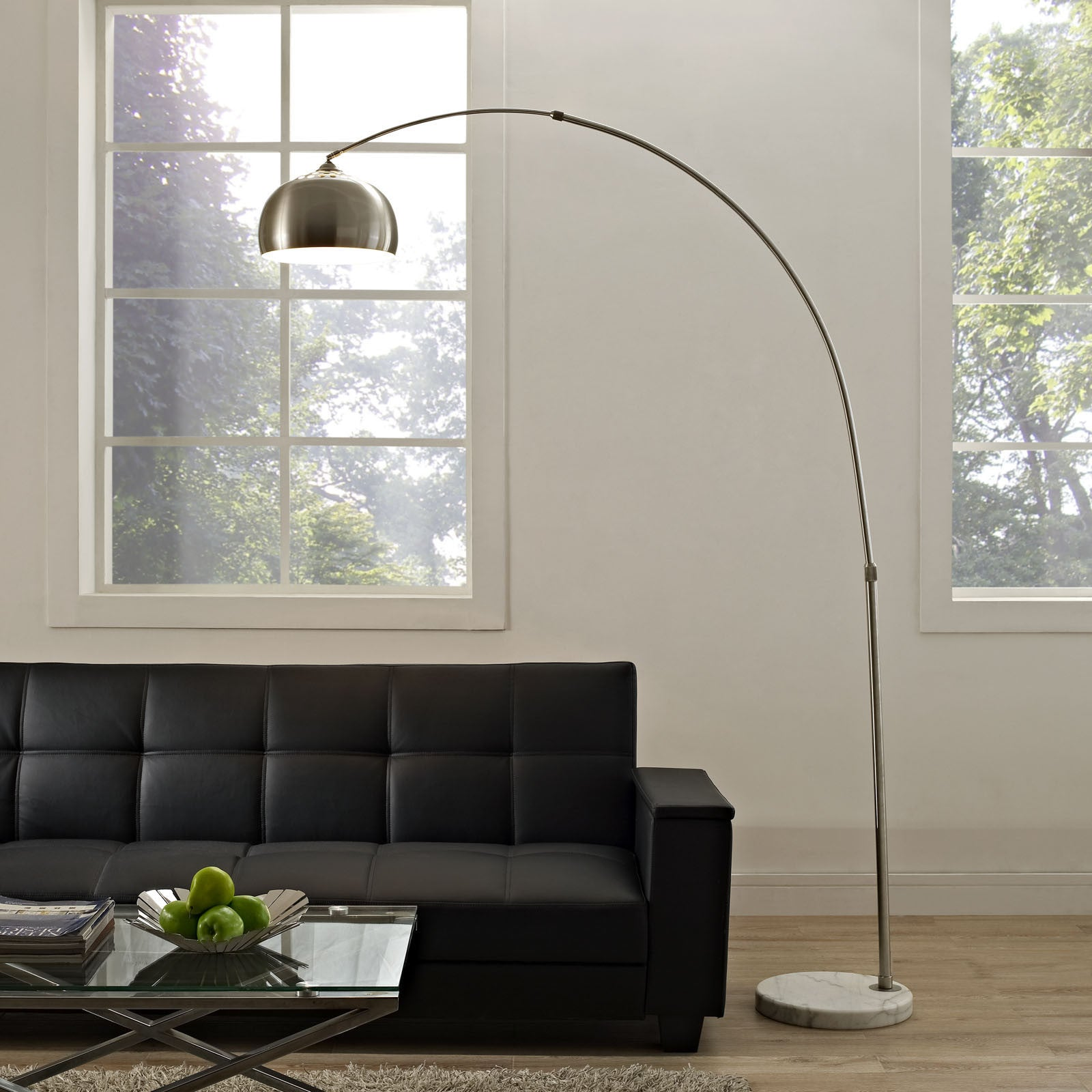 Sun Round Floor Lamp White - FROY