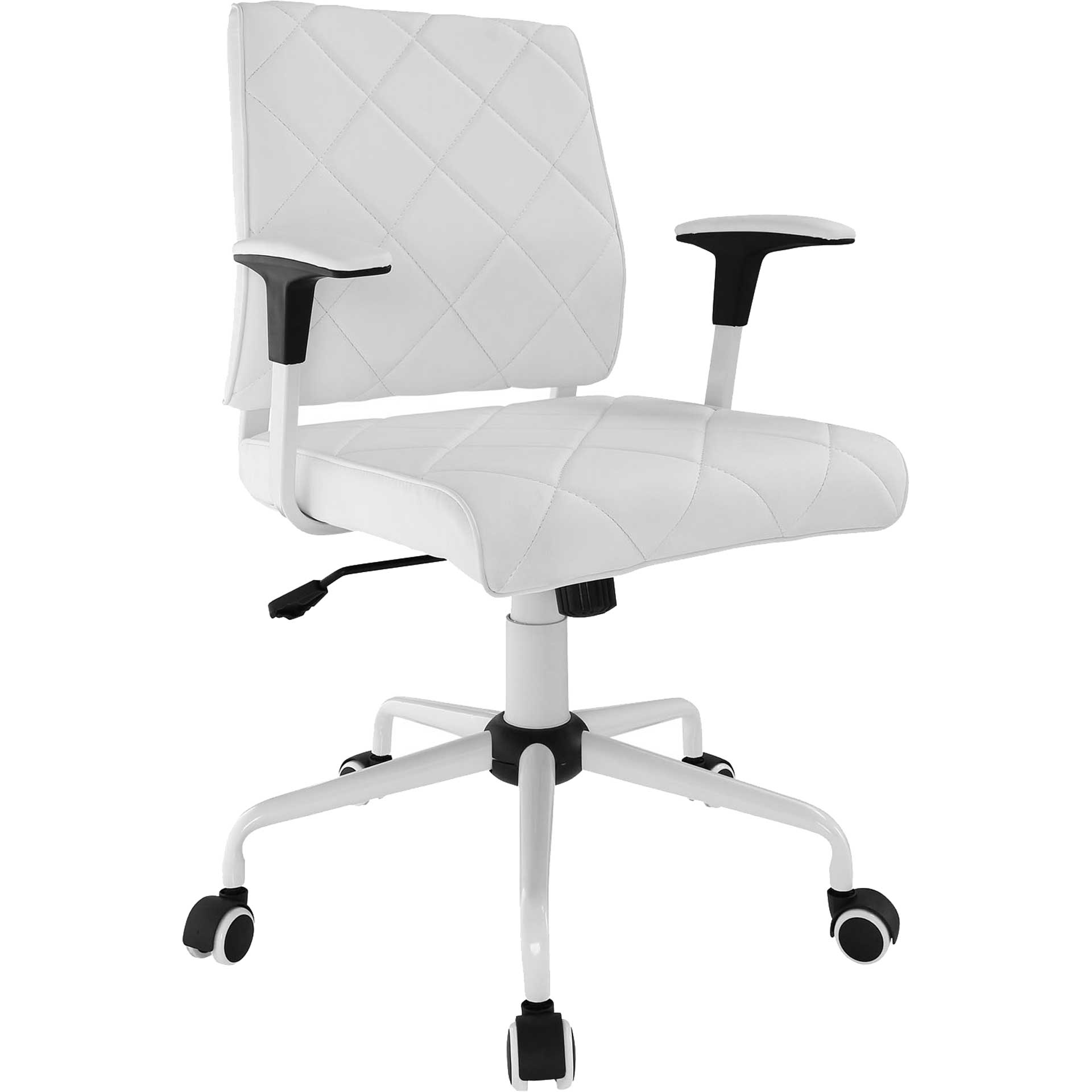 Lochsa Vinyl Office Chair White