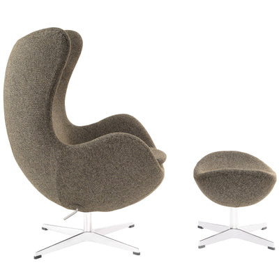 Grand Wool Lounge Chair Oat