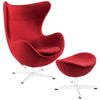 Grand Wool Lounge Chair Red