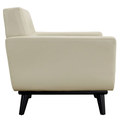 Emory Leather Armchair Beige