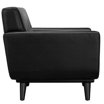 Emory Leather Armchair Black