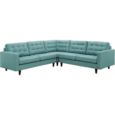 Era L-Shaped Fabric Sectional Sofa Laguna