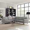 Era L-Shaped Fabric Sectional Sofa Light Gray