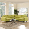 Era L-Shaped Fabric Sectional Sofa Wheatgrass