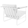 Pero Stainless Steel Lounge Chair White