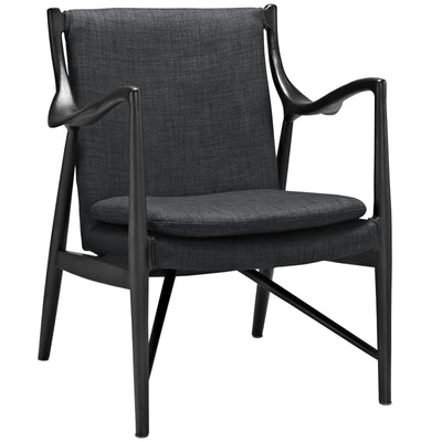 Minerva Upholstered Lounge Chair Black Gray