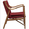 Minerva Upholstered Lounge Chair Maple Red