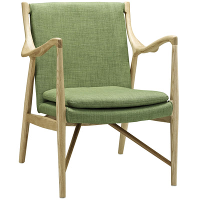 Minerva Upholstered Lounge Chair Natural Green
